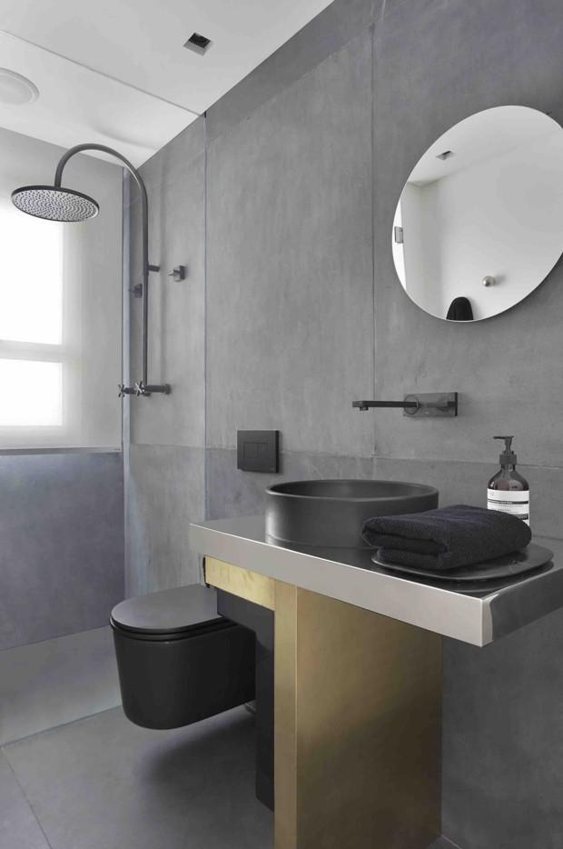10 banheiros com pia preta (Foto: Divulgação)