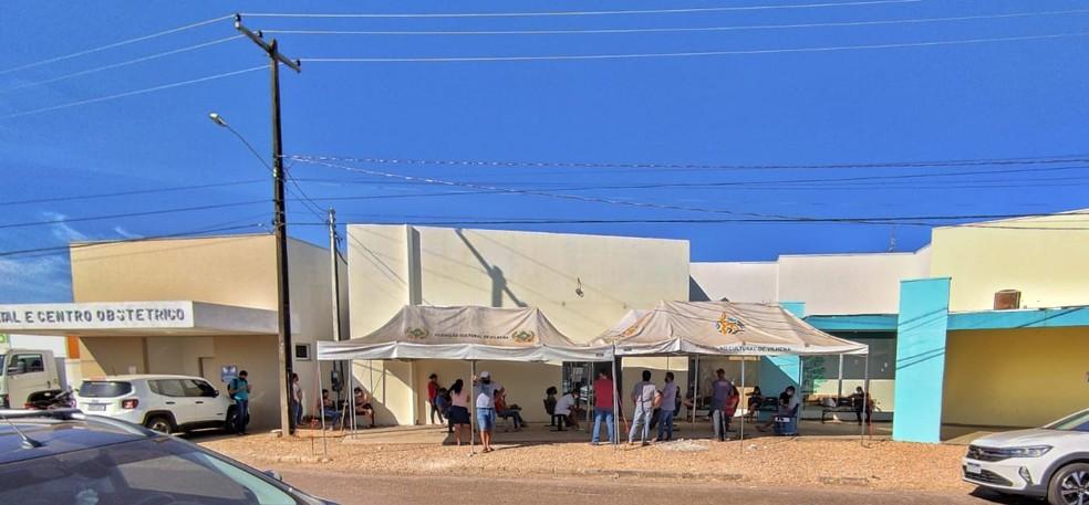 Ambulatório localizado na avenida Rony de Castro em Vilhena, RO, que atende pacientes de Covid  — Foto: Prefeitura de Vilhena/Divulgação
