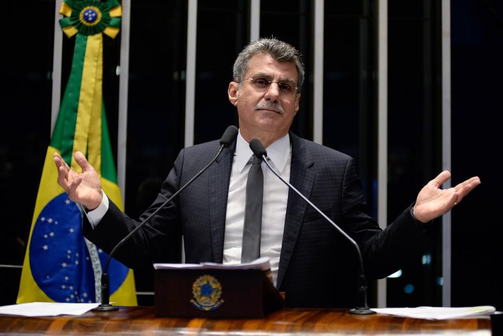 Imagem mostra o senador Romero Jucá (PMDB-RR), líder do governo Temer no Senado (Foto: Jefferson Rudy/Agência Senado)