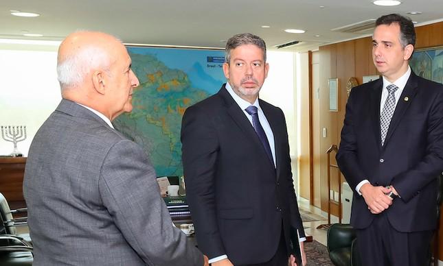 Ministro Eduardo Ramos, Arthur Lira e Rodrigo Pacheco