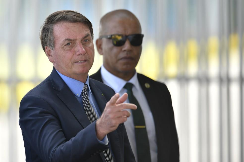 O presidente Jair Bolsonaro — Foto: Mateus Bonomi/AGIF - Agência de Fotografia/Estadão Conteúdo