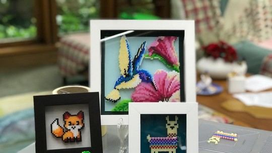Pixel Art: baixe o molde e faça um quadro com uma lhama para decorar sua casa