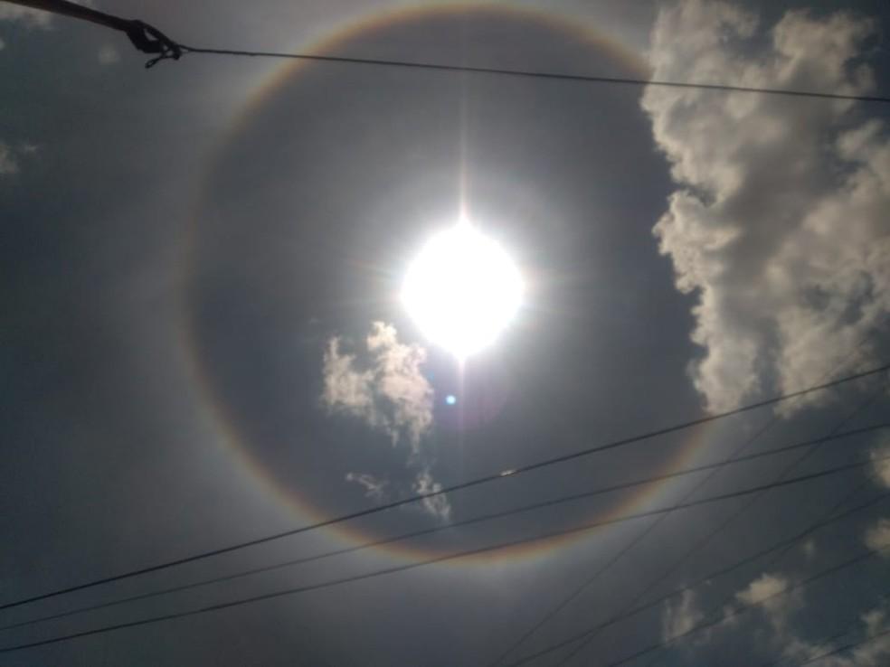 Moradores do interior cearense registram fenômeno meteorológico — Foto: Arquivo pessoal