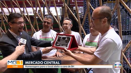 Mercado Central recebe placa após escolha como 'A Cara de BH'