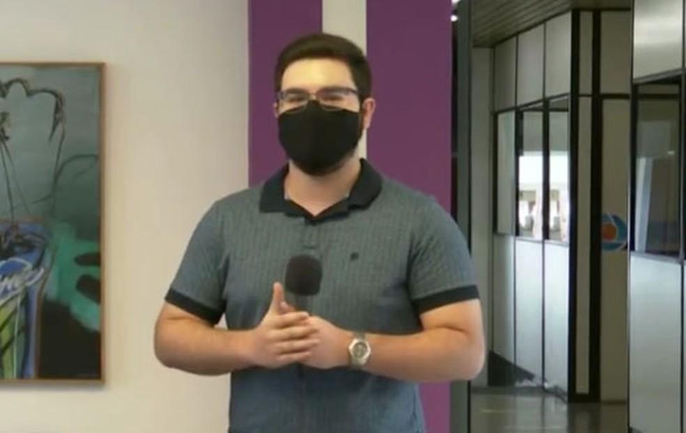Danillo Pereira fala do trabalho que é organizar o tempo — Foto: TV Cabo Branco/Reprodução