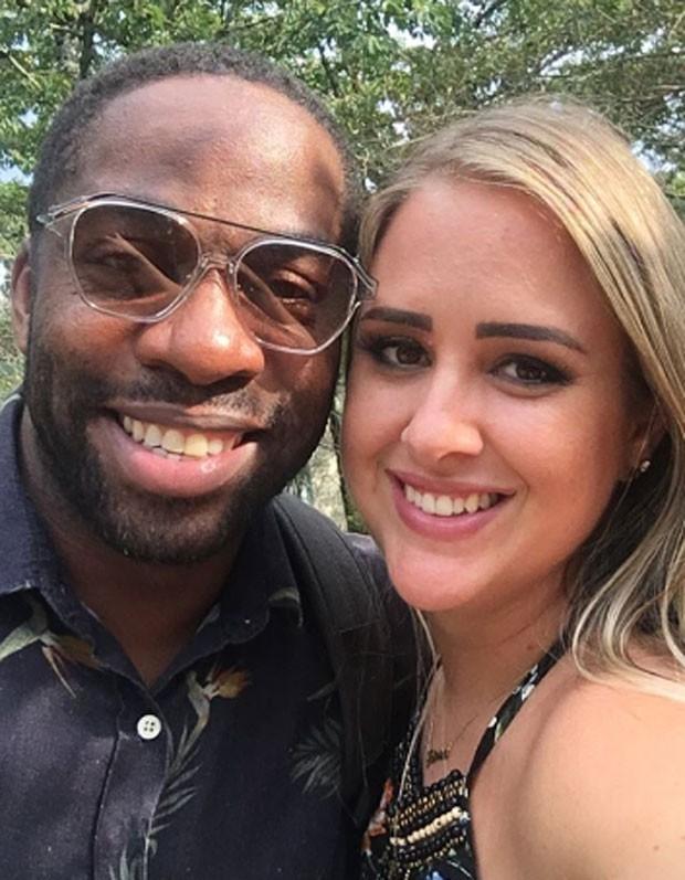 Patrícia Leite: selfie com Lázaro Ramos (Foto: Reprodução Instagram)