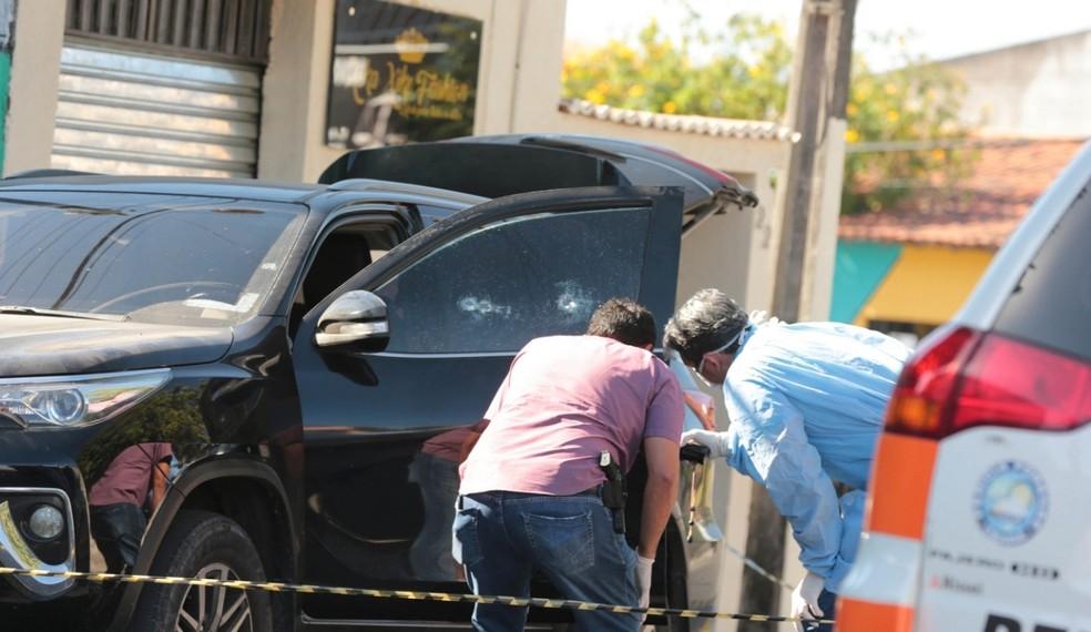 Presidente da Câmara de Vereadores de Itaitinga é executado a tiros — Foto: José Leomar/ Sistema Verdes Mares