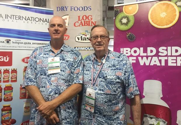 Scott Naden, analista de exportação, e, Loyd Tomlinson, CEO da LTA International  (Foto: Mariane Reghin)