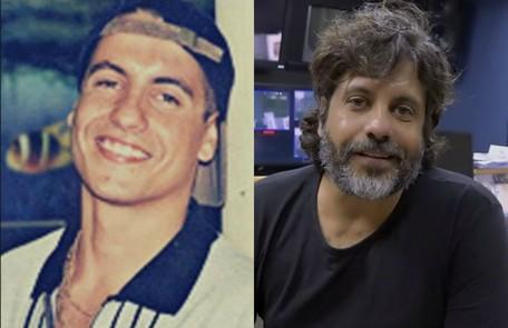 Pedro Vasconcelos em 1997, como o Vudu de 'Malhação', e atualmente. Ele se tornou diretor de TV e o seu trabalho mais recente foi a novela 'Espelho da vida' TV Globo