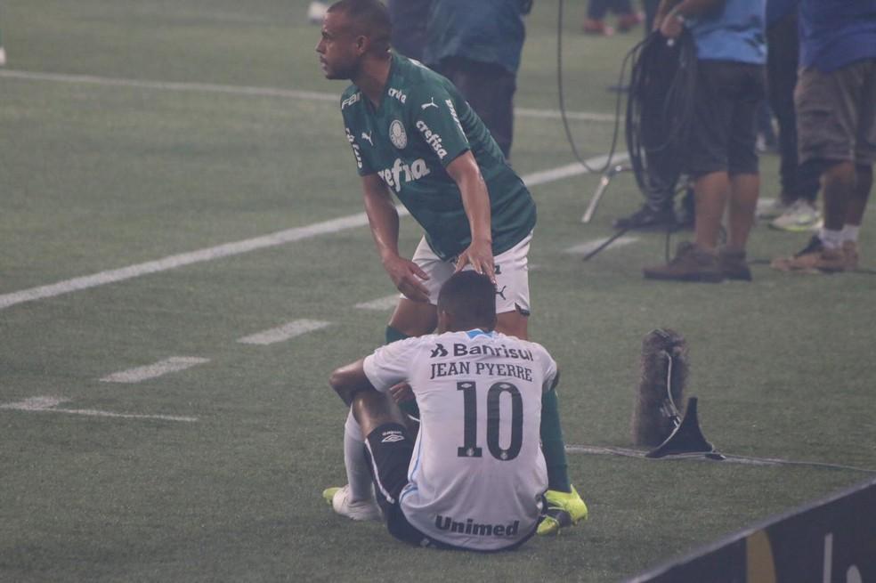 Jean Pyerre foi reserva neste domingo na decisão da Copa do Brasil — Foto: Eduardo Moura