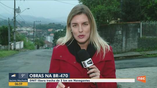 Trecho de dois quilômetros da duplicação da BR-470 em Navegantes será liberado nesta quarta-feira