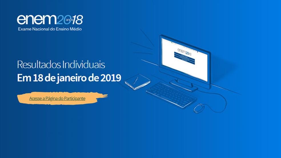 Acesse o Portal do Enem 2018 — Foto: Reprodução/Tais Carvalho
