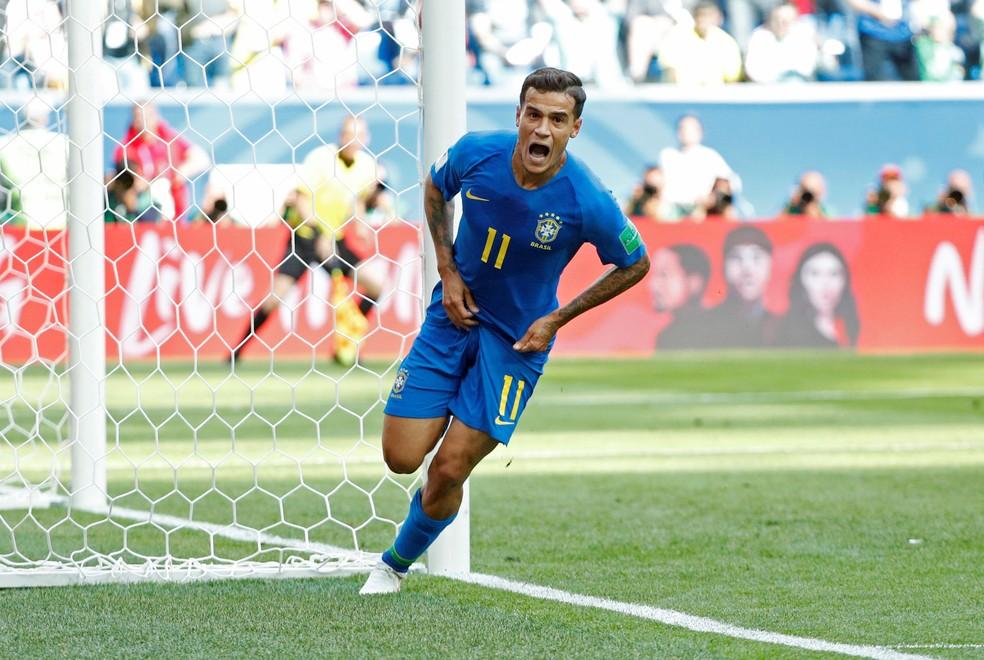 Philippe Coutinho foi o principal jogador do Brasil na primeira fase da Copa (Foto: Max Rossi/Reuters)