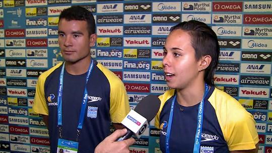 Ian Matos e Tammy Galera falam sobre desempenho do Brasil na final dos Saltos Ornamentais