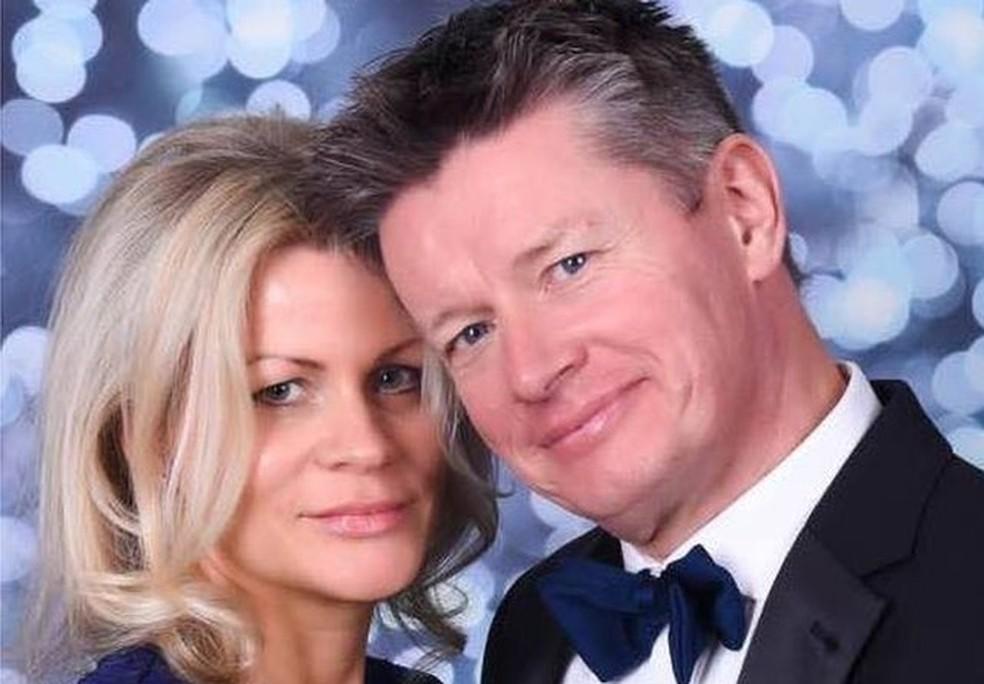 Richard fez o teste porque não estava conseguindo engravidar Emma, sua atual mulher — Foto: Reprodução/Facebook
