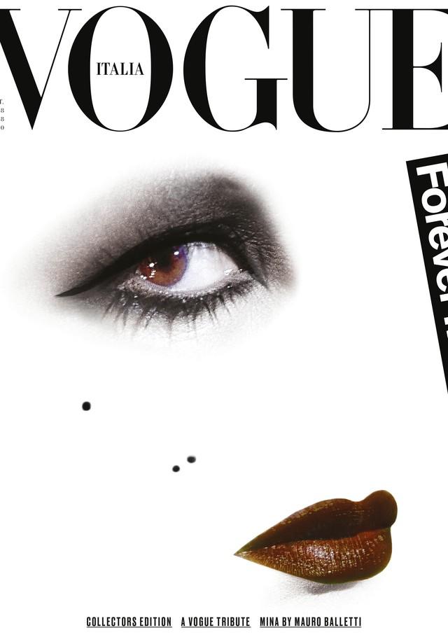 Outra capa da edição especial da Vogue Itália, em homenagem à cantora Mina (Foto: Divulgação)
