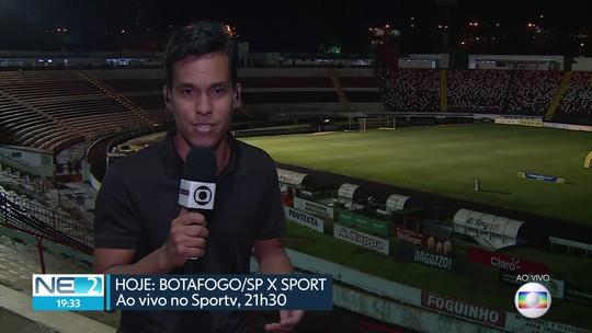Sport joga contra Botafogo em São Paulo