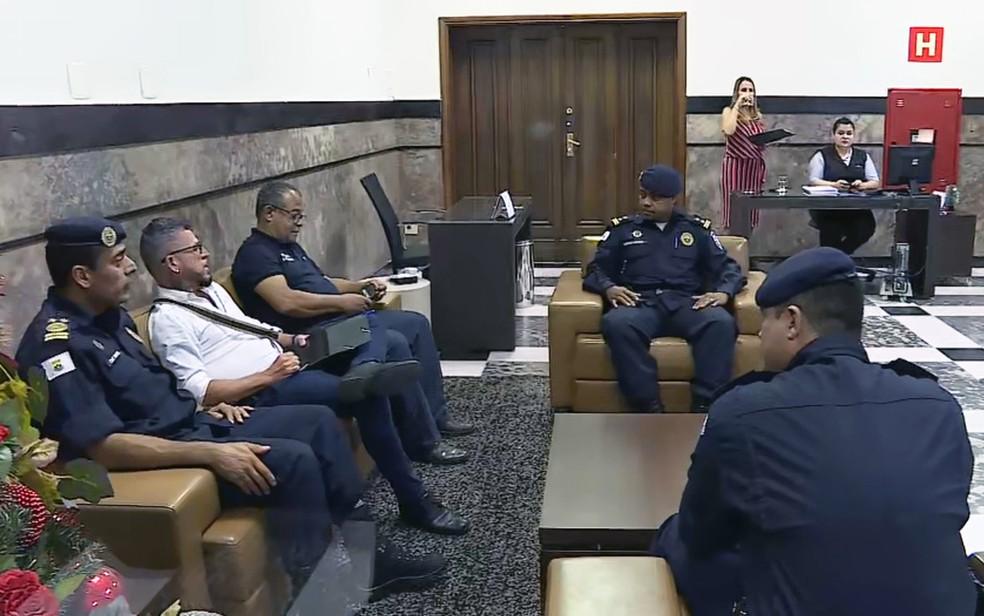 Guarda Municipal se reúne com o prefeito de BH, Alexandre Kalil (PSD) a portas fechadas — Foto: Reprodução/TV Globo