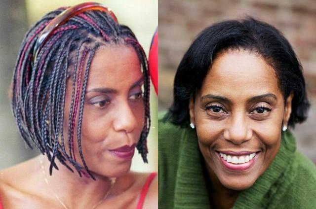 A atriz na época da 'Malhação' (à esquerda) e atualmente (Foto: TV Globo-Arquivo pessoal)