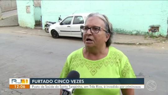 Posto de Saúde do Santa Terezinha, em Três Rios, é invadido por criminosos