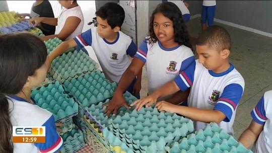 Alunos de Linhares desenvolvem projeto com reciclagem, no Norte do ES