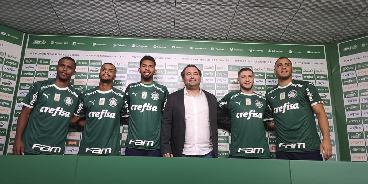 Entenda por que o Palmeiras apresentou reforços com o mesmo número na camisa   f8ee1302c00b9