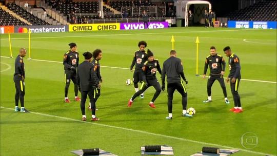 Seleção brasileira se prepara para amistoso em Londres