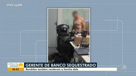 Imagens mostram momento em que agente remove explosivo amarrado a corpo de gerente bancário na Bahia