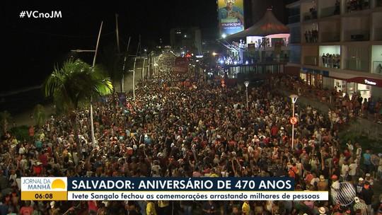 Ivete arrasta multidão em festa pelos 470 anos de Salvador