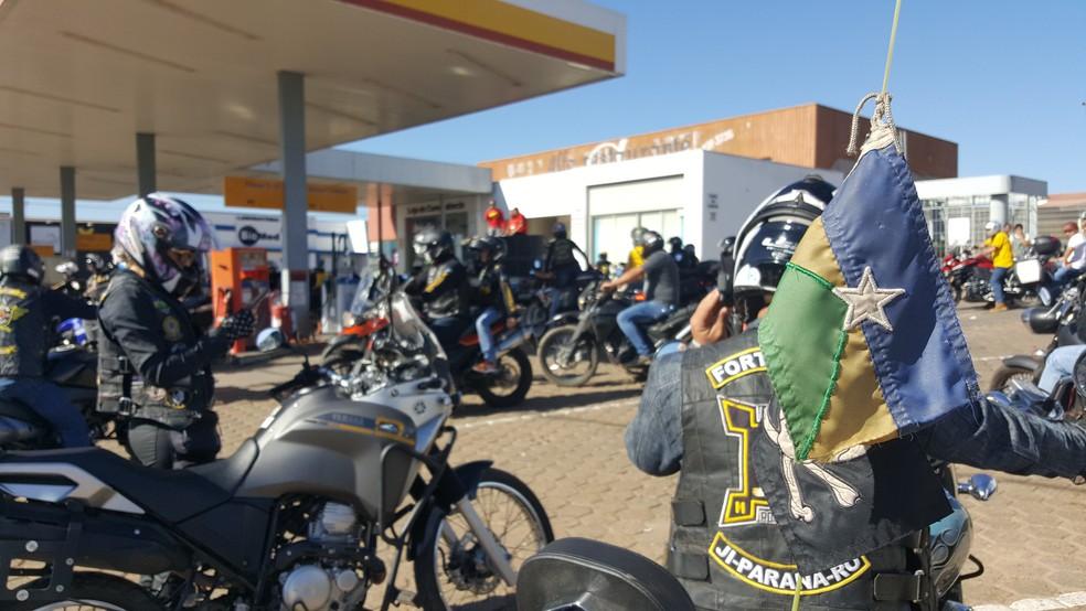 Motociclistas se reuniram para agradecer, diz organização (Foto: Pâmela Fernandes/G1)