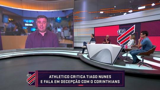 """Arnaldo Ribeiro elogia possível chegada de Tiago Nunes: """"Hoje é mais 'confiável' que o Carille"""""""