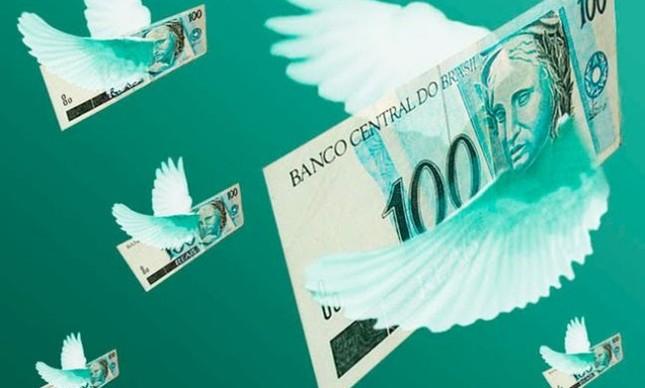 Dinheiro, Real, Notas voando (Foto: Arquivo Google)
