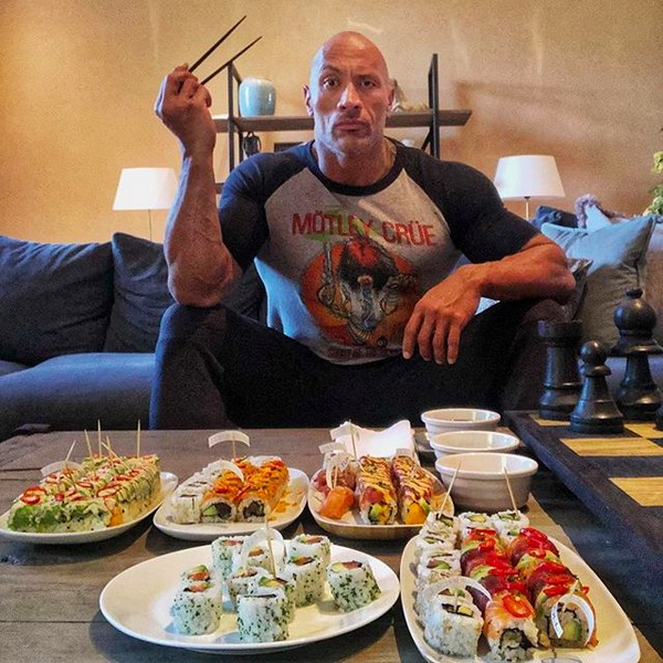 O lanchinho do ator Dwayne The Rock Johnson (Foto: Instagram)