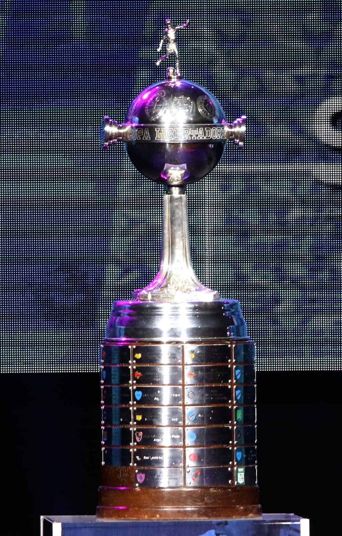 A taça da Libertadores: o sonho de 16 clubes nas oitavas de final (Foto: EFE)