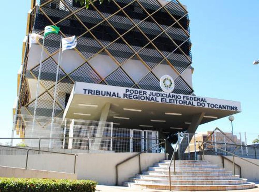 Tribunal Regional Eleitoral do Tocantins recebeu registros de candidaturas (Foto: Divulgação/TRE-TO)