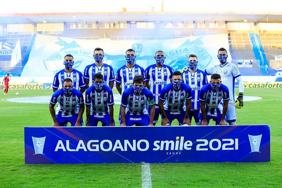 Time do CSA que enfrentou o CRB — Foto: Ailton Cruz/Gazeta de Alagoas