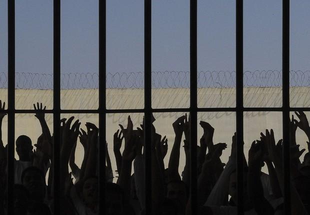 Mutirão na Penitenciária da Papuda ; presídio ; prisão ; presidiários ;  (Foto: Wilson Dias/Agência Brasil)