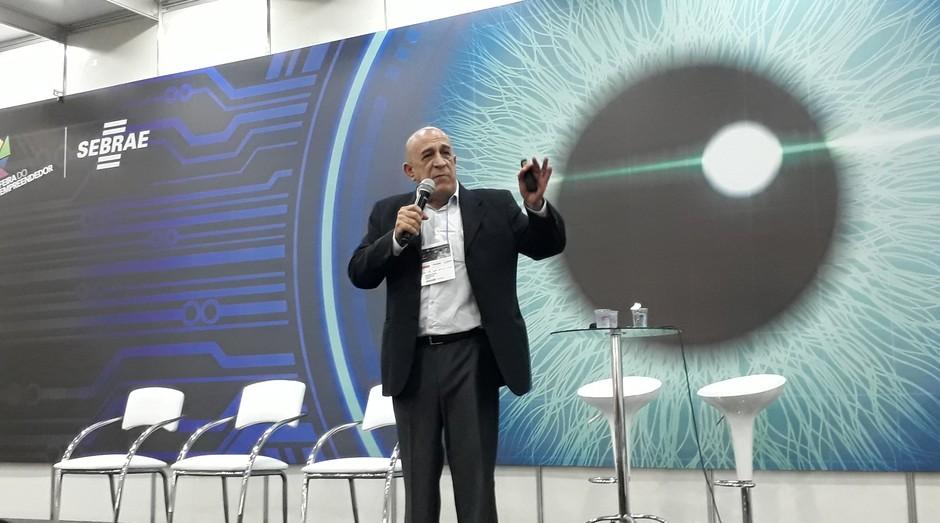 Ricardo Sayon, fundador da Rihappy, durante palestra na Feira do Empreendedor SP 2018 (Foto: Editora Globo)