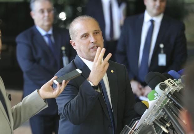 Onyx Lorenzoni afirmou que o futuro governo terá 20 ministérios funcionais e dois eventuais (Foto: Valter Campanato/Agência Brasil)