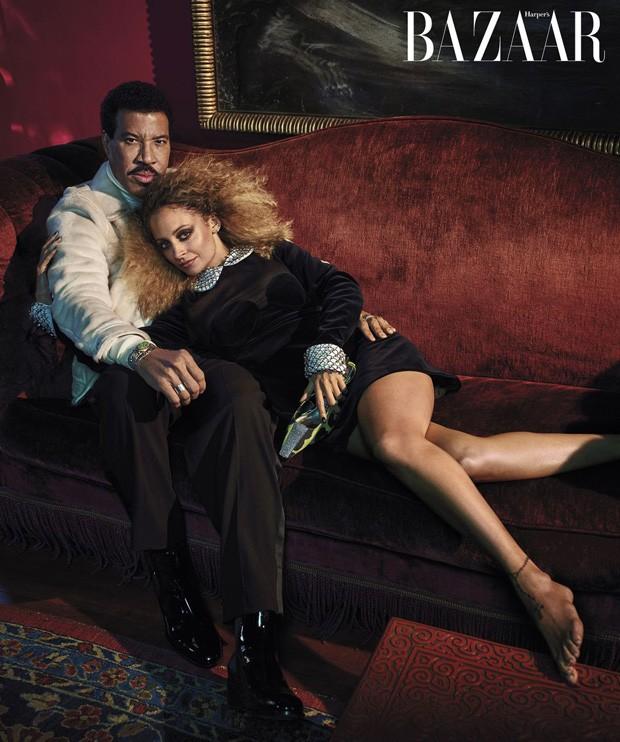 Lionel Richie e a filha Nicole Richie (Foto: Mario Sorrenti)