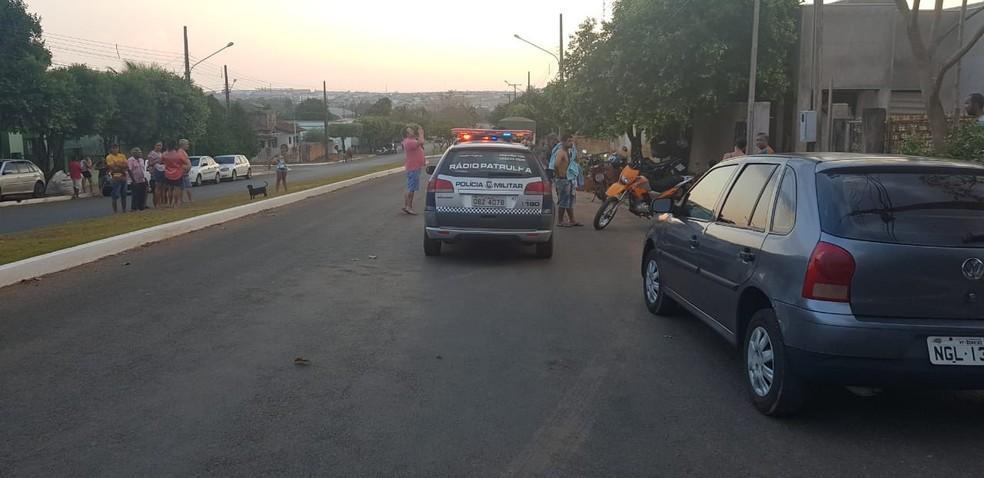 Homem foi morto pelo amigo em Sorriso — Foto: Rafael Sousa/Portal Sorriso