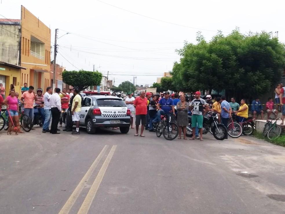 Homem é morto durante tentativa de assalto em Mossoró (Foto: Ivanúcia Lopes/Inter TV Costa Branca)