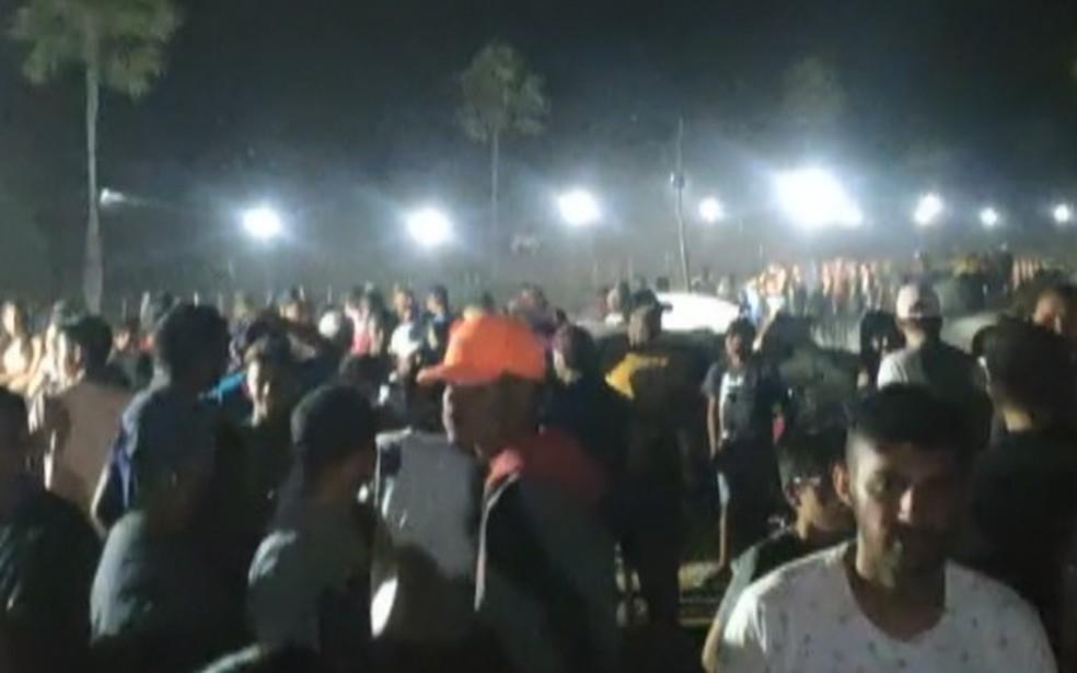 Vídeo mostra aglomeração e pessoas sem máscara durante vaquejada no Piauí — Foto: Reprodução