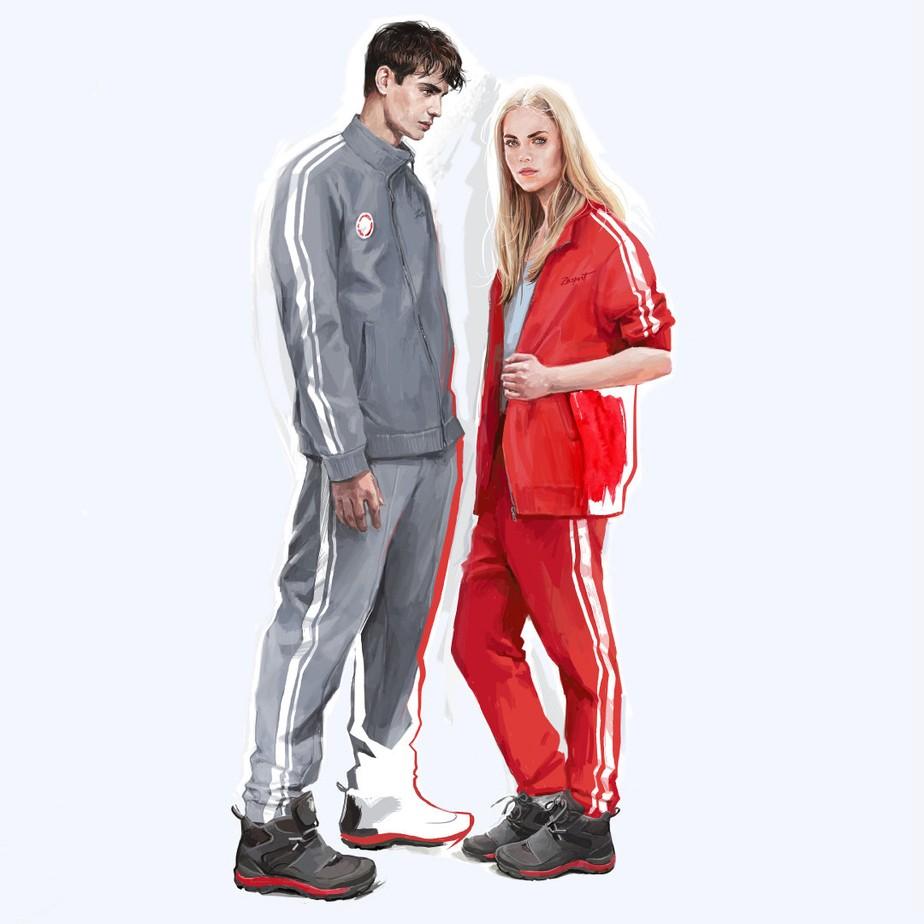 Cinza, vermelho e branco: Rússia conhece esboço dos uniformes de PyeongChang