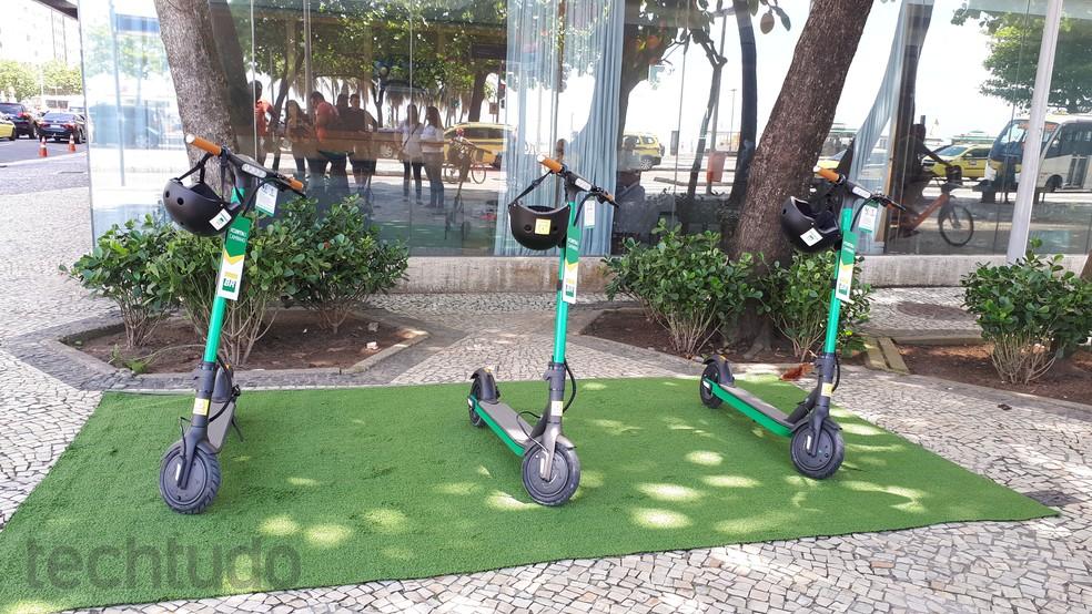 Patinete Petrobras — Foto: Aline Batista/TechTudo