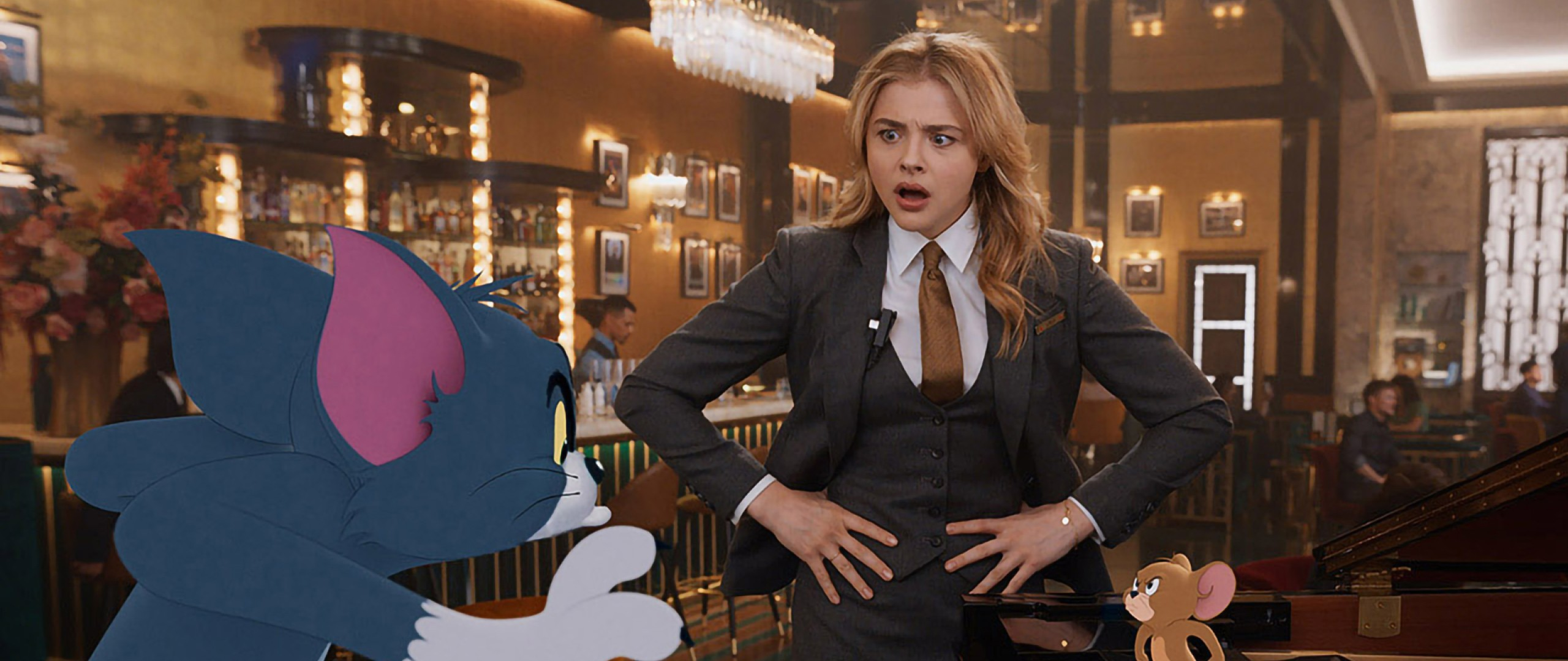 Chloe Grace Moretz em Tom & Jerry (Foto: Warner Bros)