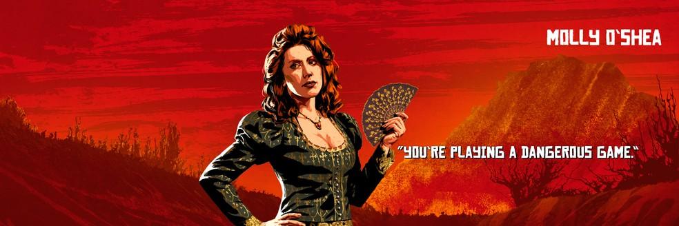 Molly O'Shea, de Red Dead Redemption 2 — Foto: Divulgação/Rockstar