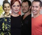 Leticia Colin, Heloisa Périssé, Matheus Nachtergaele e Edmilson Filho | Ana Branco, TV Globo e Reprodução