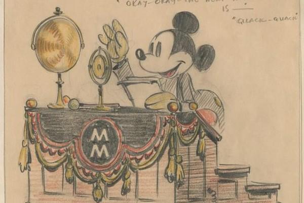 Uma das ilustrações antigas divulgadas pela Disney celebrando os 90 anos do personagem Mickey Mouse (Foto: Divulgação)