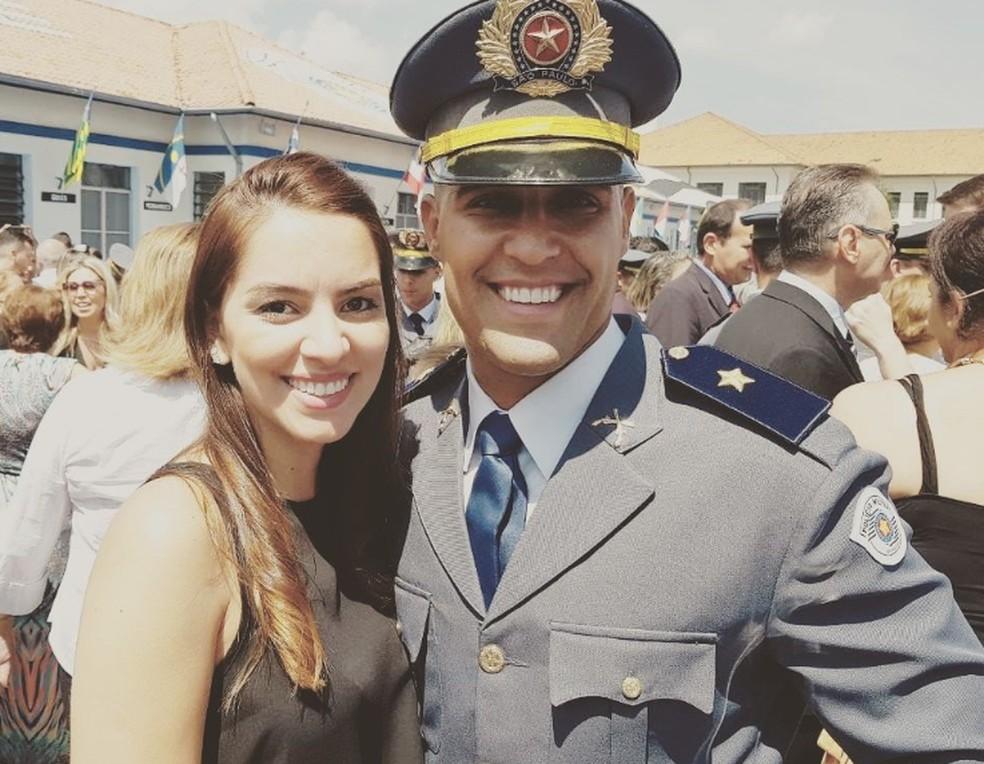 Jéssica e o noivo Flavio se casariam no sábado (14), na Igreja Nossa Senhora Consolata — Foto: Arquivo pessoal